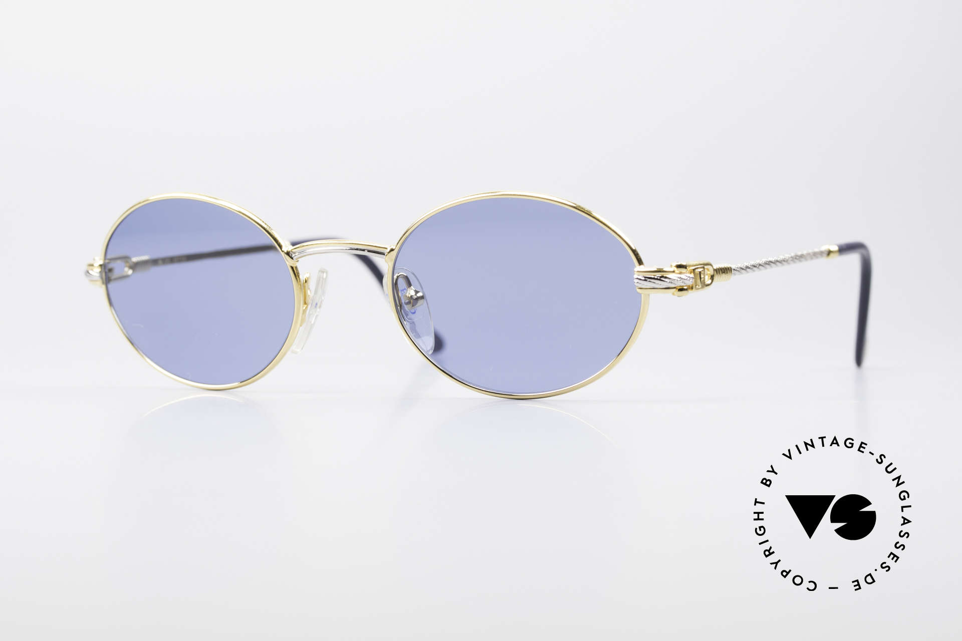 Fred Ketch Oval Luxury Sailing Sunglasses, rare vintage sunglasses by Fred, Paris from the 1980s, Made for Men and Women
