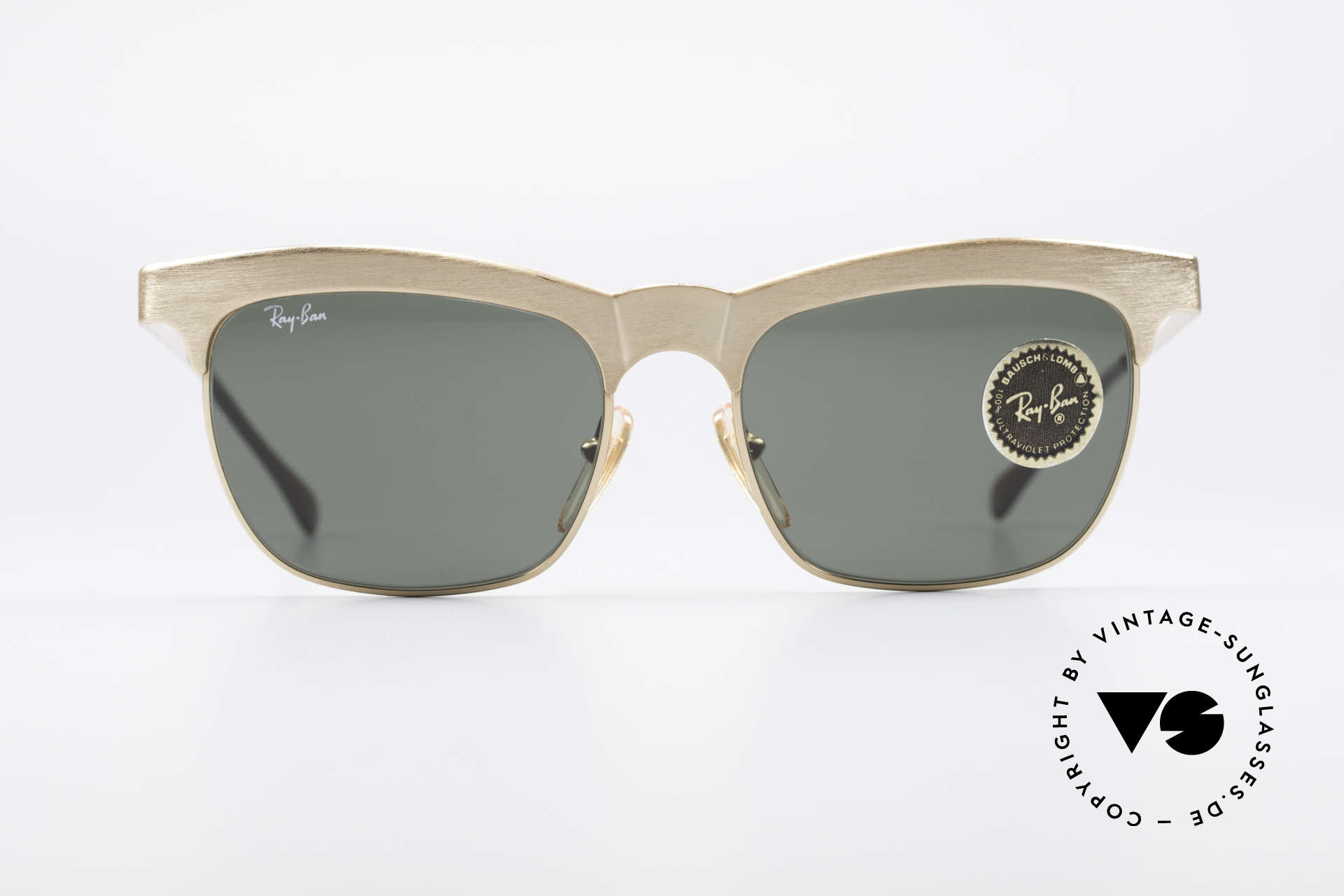 Ray Ban Nuevo 90's B&L Sunglasses W0755, massive frame made of thick robust metal, 54g, Made for Men and Women