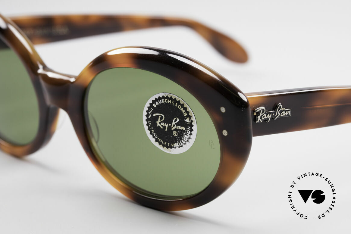 Ray Ban Bewitching Jackie O Ray Ban Sunglasses, unworn ( like all our vintage Ray Ban sunglasses), Made for Women