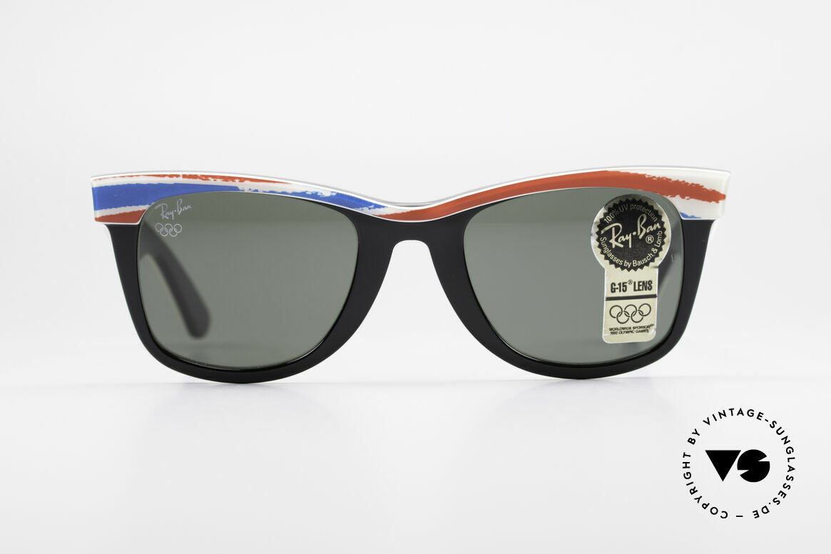 Ray Ban Wayfarer I Olympic Games Albertville, rare Olympia Series - sports edition 'Albertville 1992', Made for Men and Women