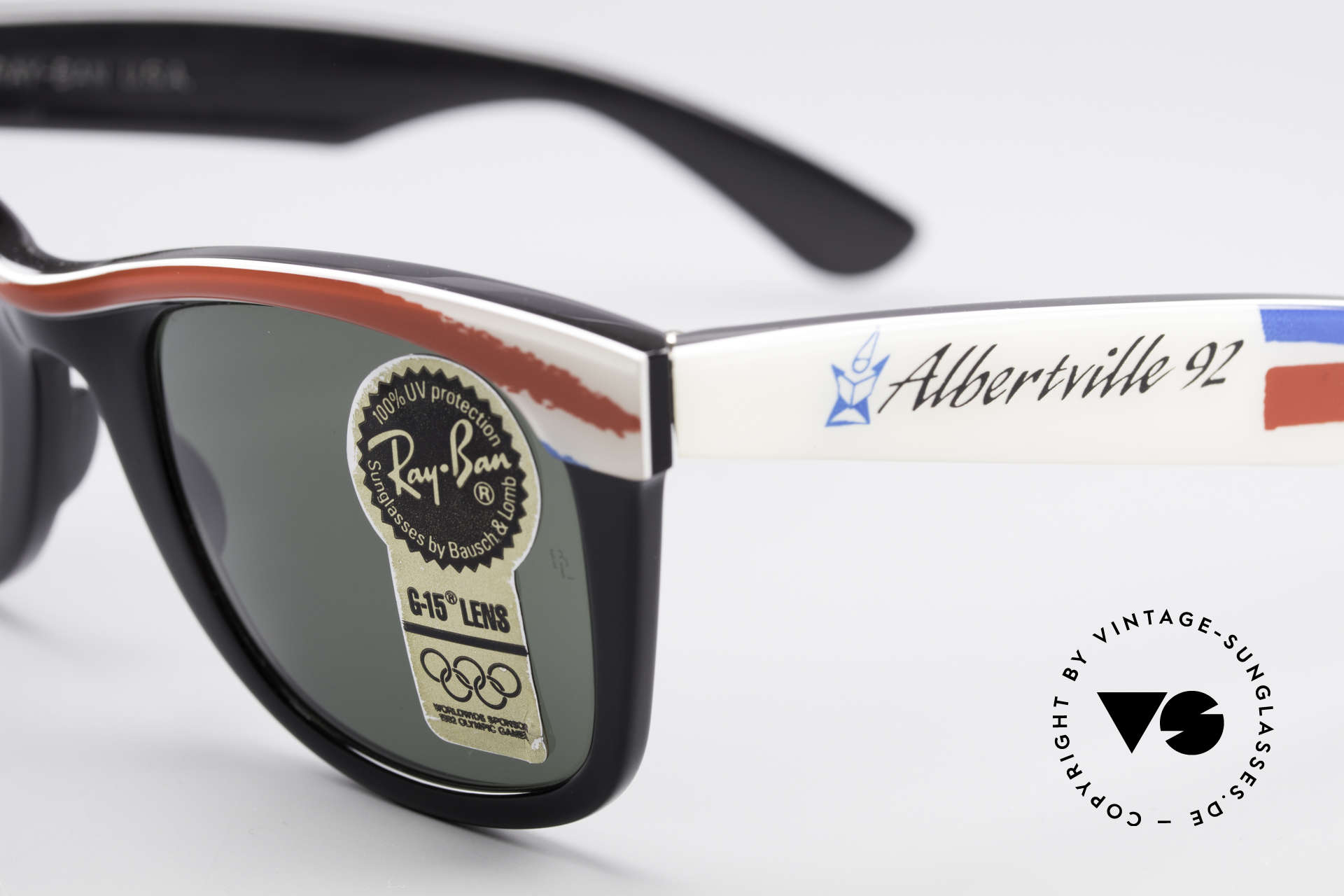 Ray Ban Wayfarer I Olympic Games Albertville, unworn B&L rarity (a real collector's item, worldwide), Made for Men and Women