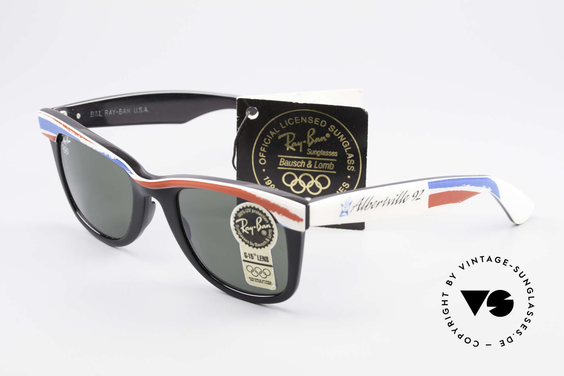 Ray Ban Wayfarer I Olympic Games Albertville, Size: medium, Made for Men and Women