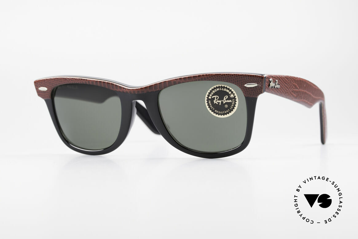 Ray Ban Wayfarer I Limited Leather Sunglasses, one of the downright classics of sunglass fashion, Made for Men and Women
