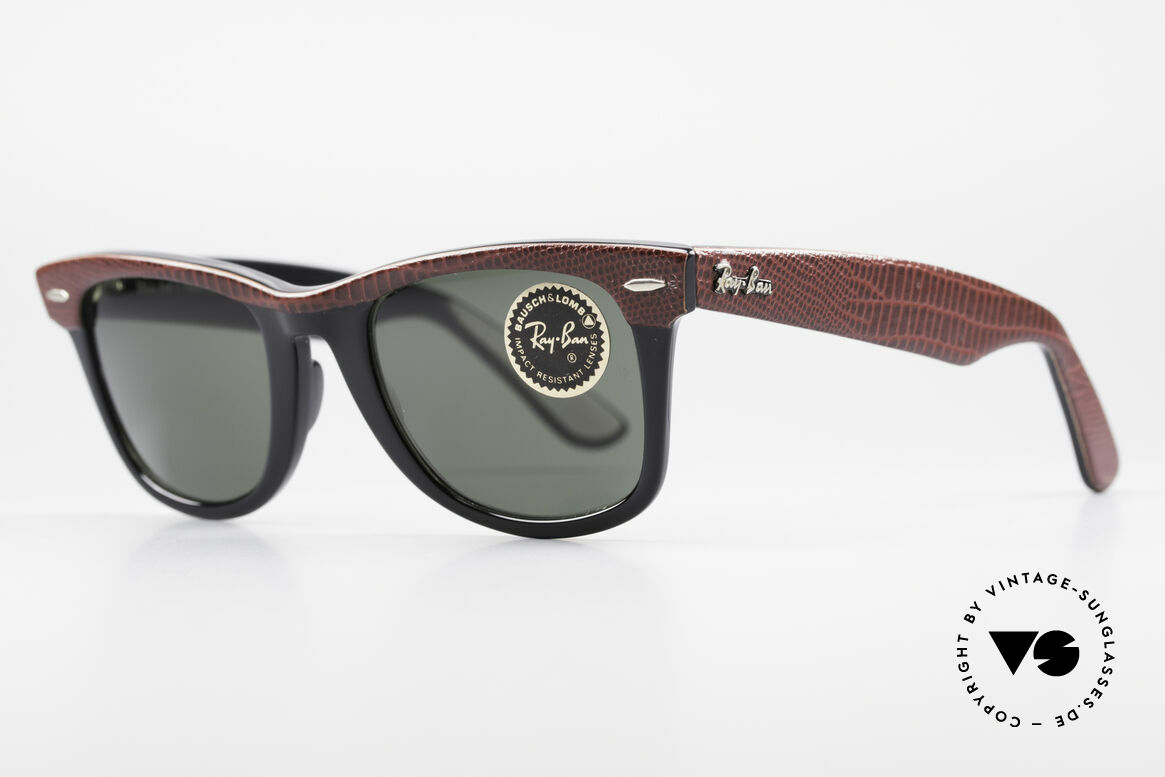 Ray Ban Wayfarer I Limited Leather Sunglasses, often copied, but never matched (simply a legend), Made for Men and Women