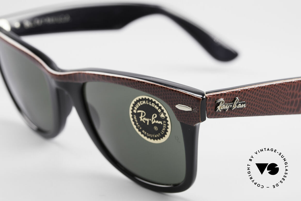 Ray Ban Wayfarer I Limited Leather Sunglasses, Bausch&Lomb mineral lenses (100% UV protection), Made for Men and Women