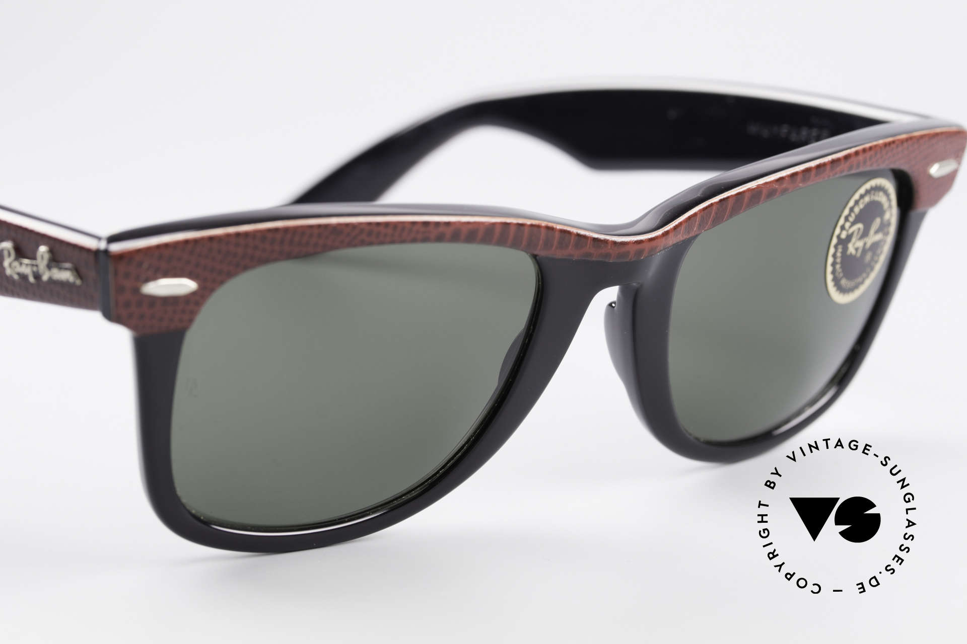 Ray Ban Wayfarer I Limited Leather Sunglasses, Size: medium, Made for Men and Women