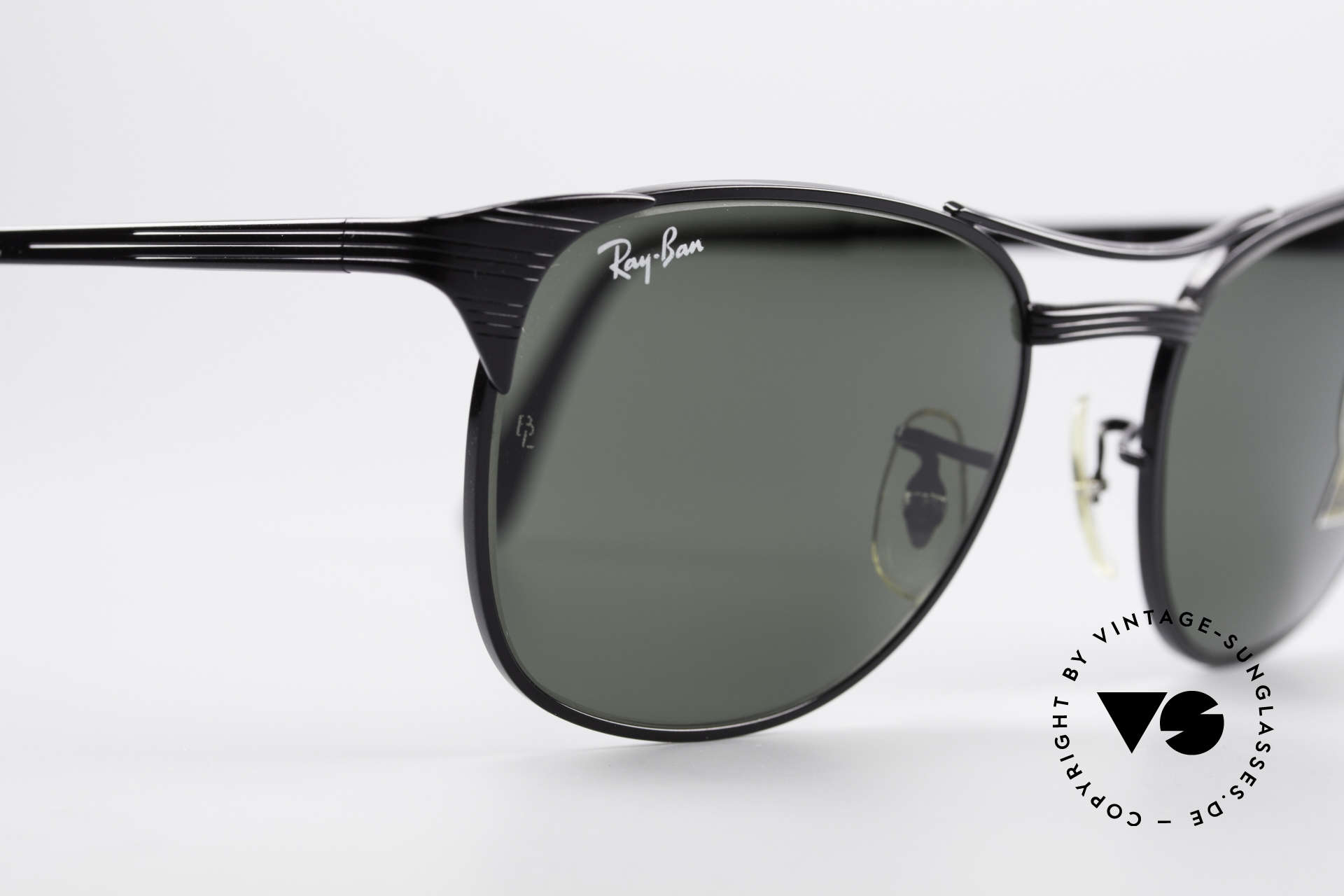 Ray Ban Signet Old USA B&L Ray-Ban Shades, solid BLACK frame with double bridge, W0387, Made for Men