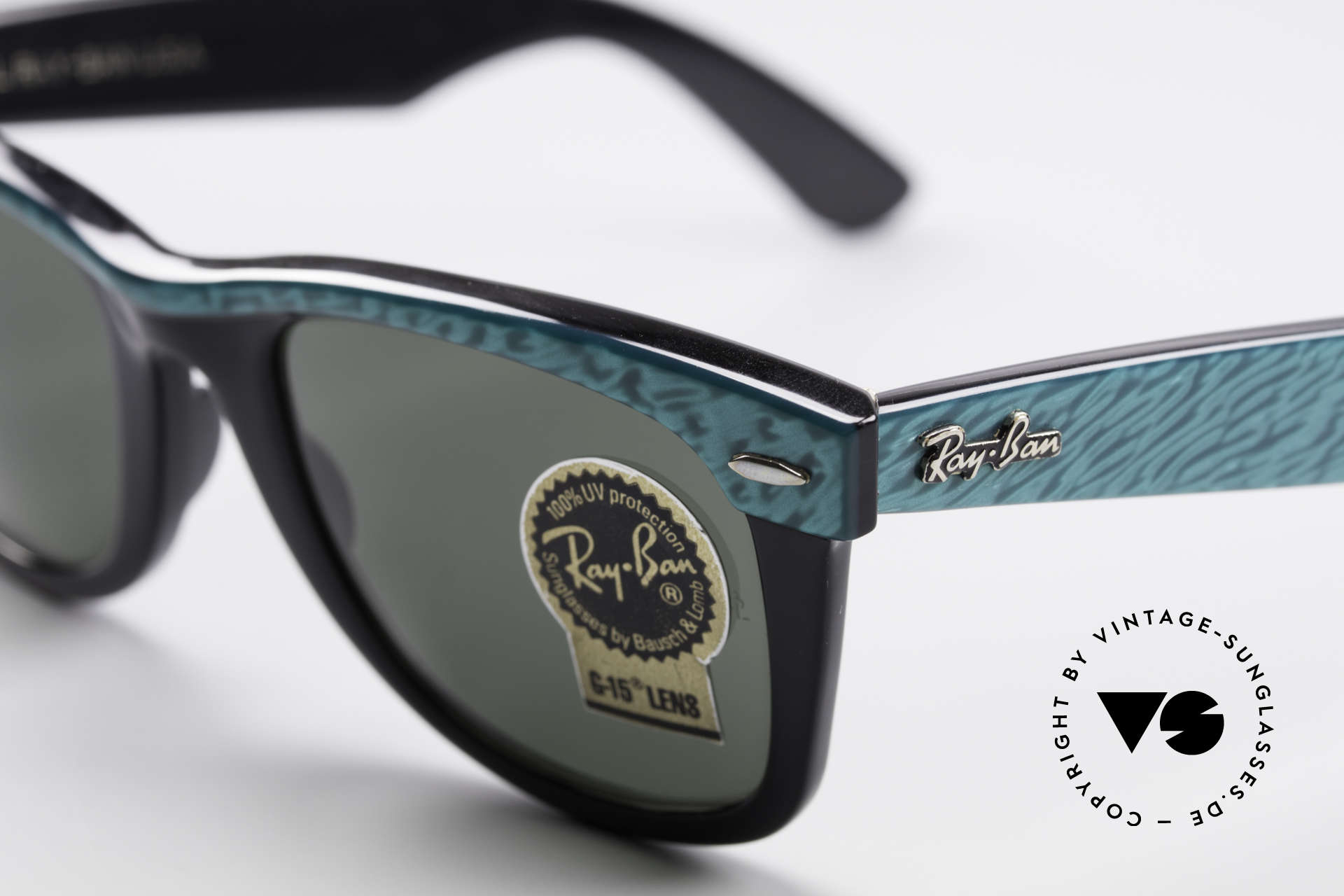 Ray Ban Wayfarer I Old 80's USA Sunglasses B&L, Bausch&Lomb mineral lenses (100% UV protection), Made for Men and Women
