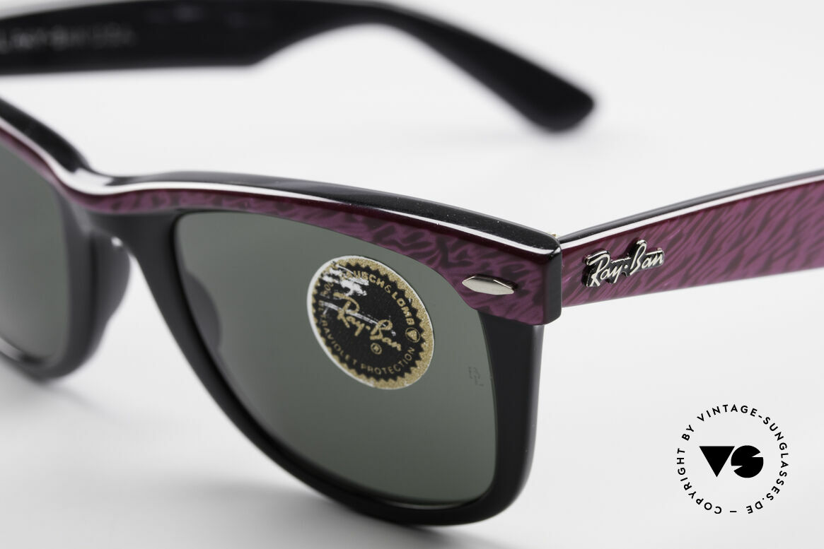 Ray Ban Wayfarer I Old 80's Sunglasses B&L USA, Bausch&Lomb mineral lenses (100% UV protection), Made for Women