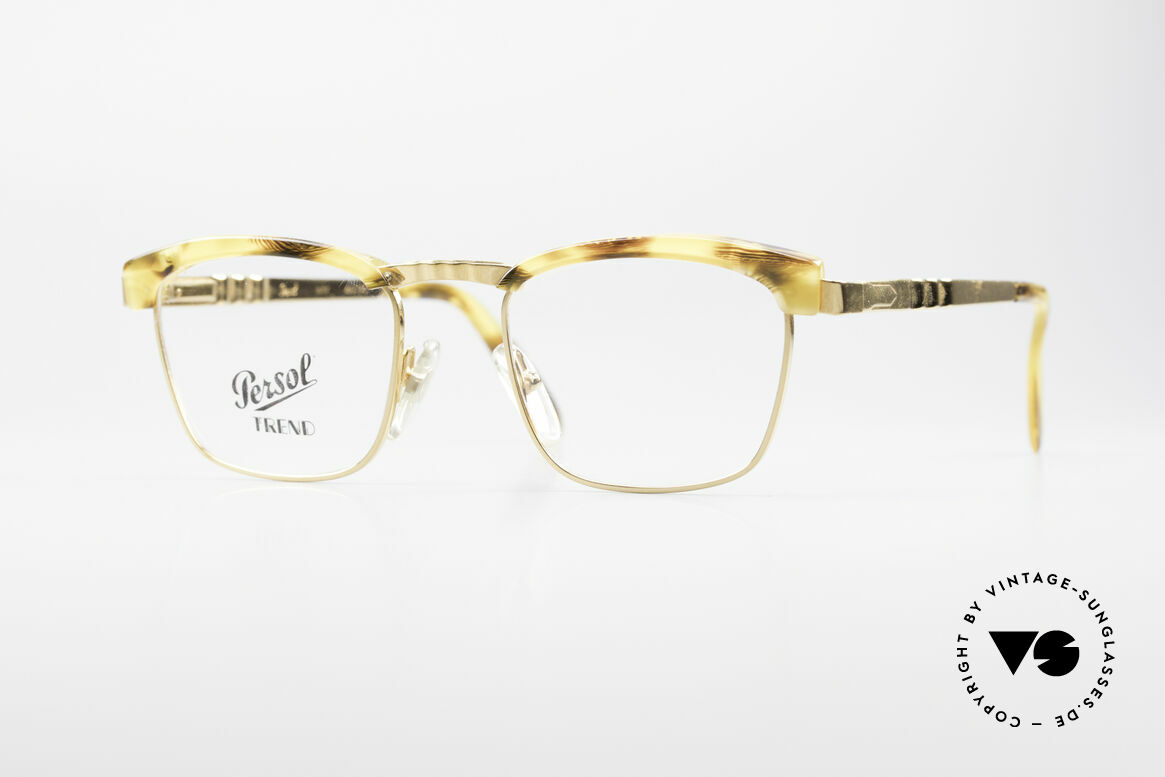 Persol Inge Ratti Gold Plated Vintage Glasses, classic Persol Ratti vintage glasses of the 80's, Made for Men