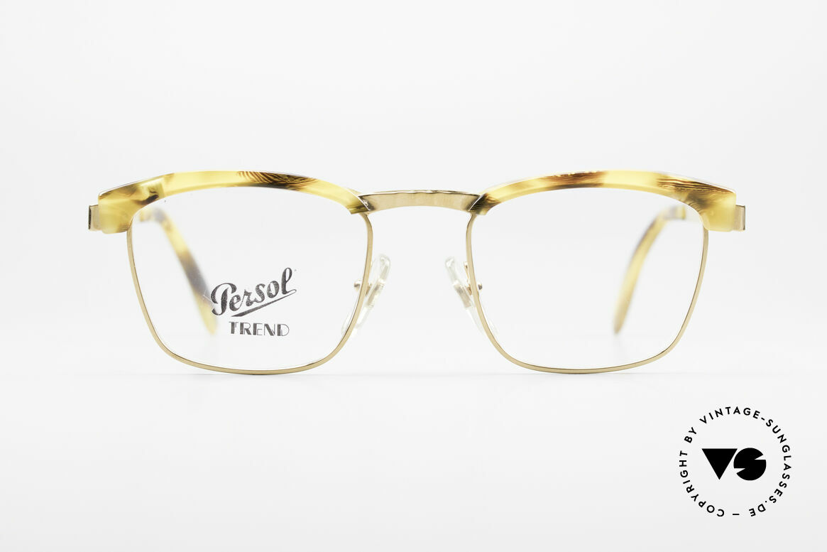 Persol Inge Ratti Gold Plated Vintage Glasses, perfect fit and comfort thanks to spring hinges, Made for Men