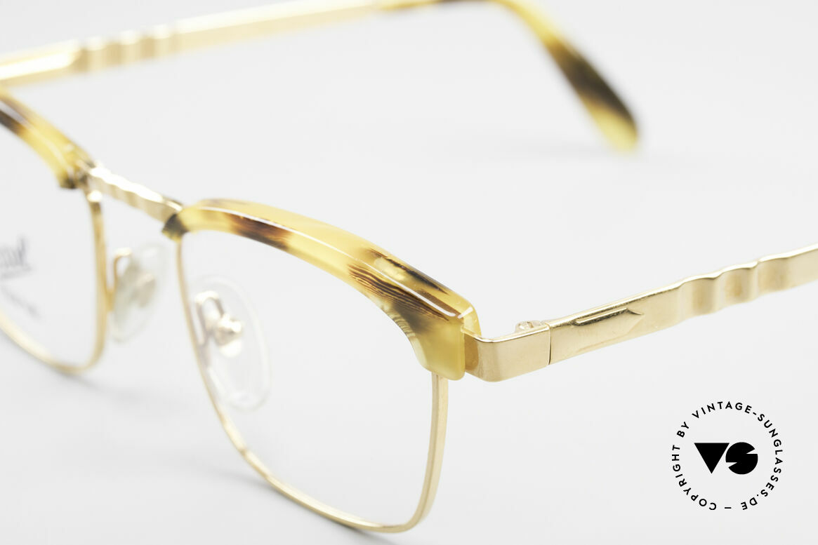 Persol Inge Ratti Gold Plated Vintage Glasses, 18kt GOLD-PLATED metal frame, M size 49-20, Made for Men