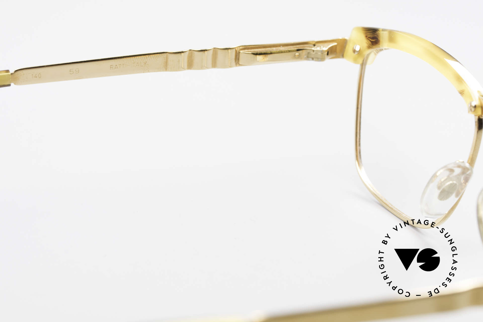 Persol Inge Ratti Gold Plated Vintage Glasses, NO retro frame, but a rare 30 years old original, Made for Men