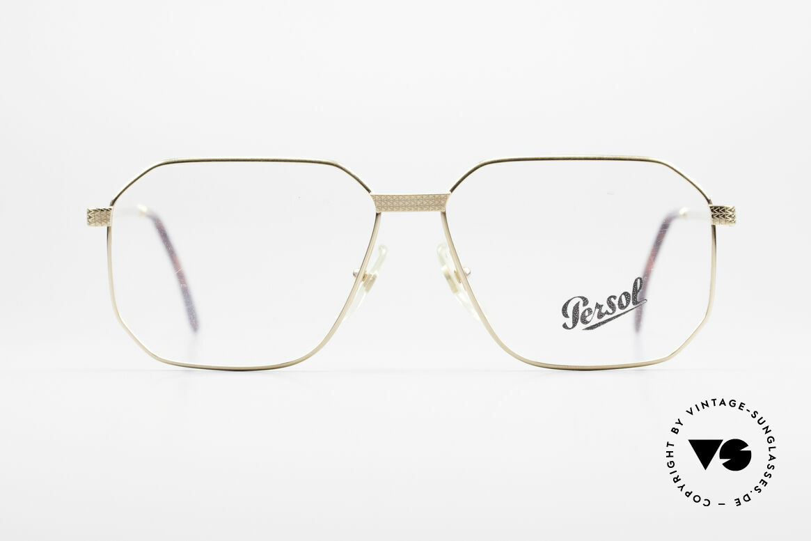 Persol Morris 90's Vintage Eyeglass Frame, perfect fit and striking design; L size 58-14, Made for Men