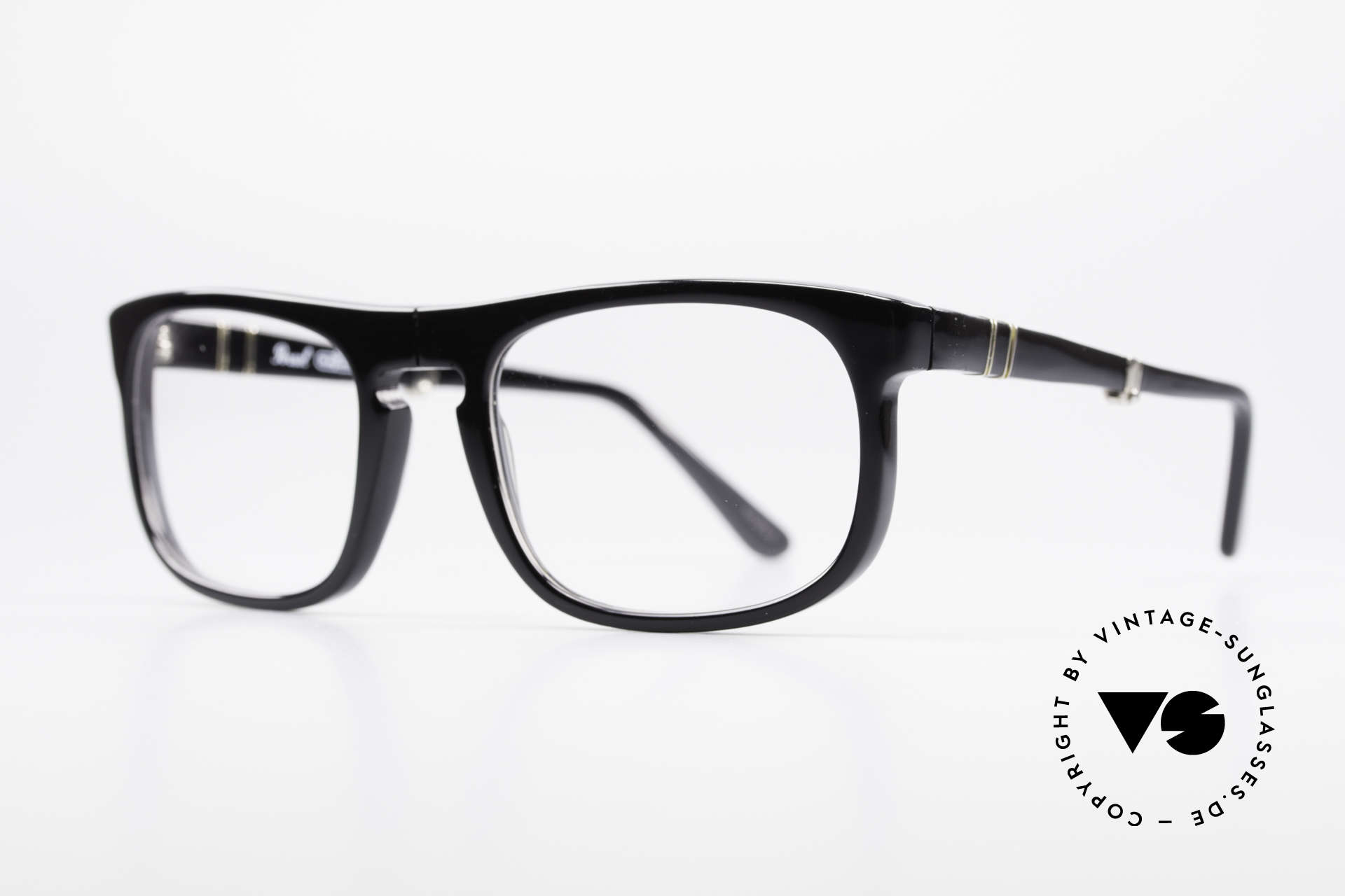 Persol Ratti 807 Folding Vintage Folding Eyeglasses, foldable frame from the legendary RATTI manufactory, Made for Men