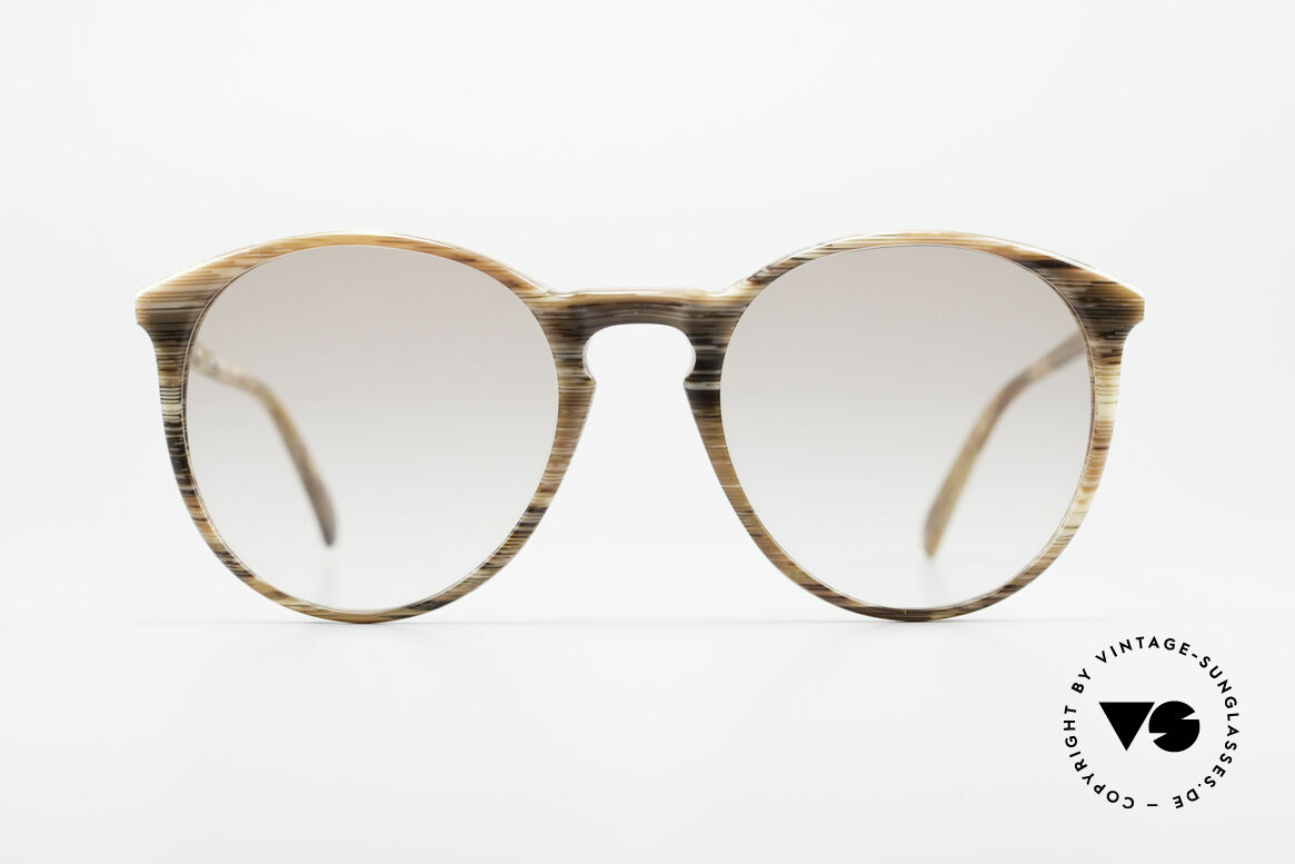Alain Mikli 901 / 153 Horn Optic Panto Sunglasses, classic 'panto'-design with light-brown sun lenses, Made for Men and Women