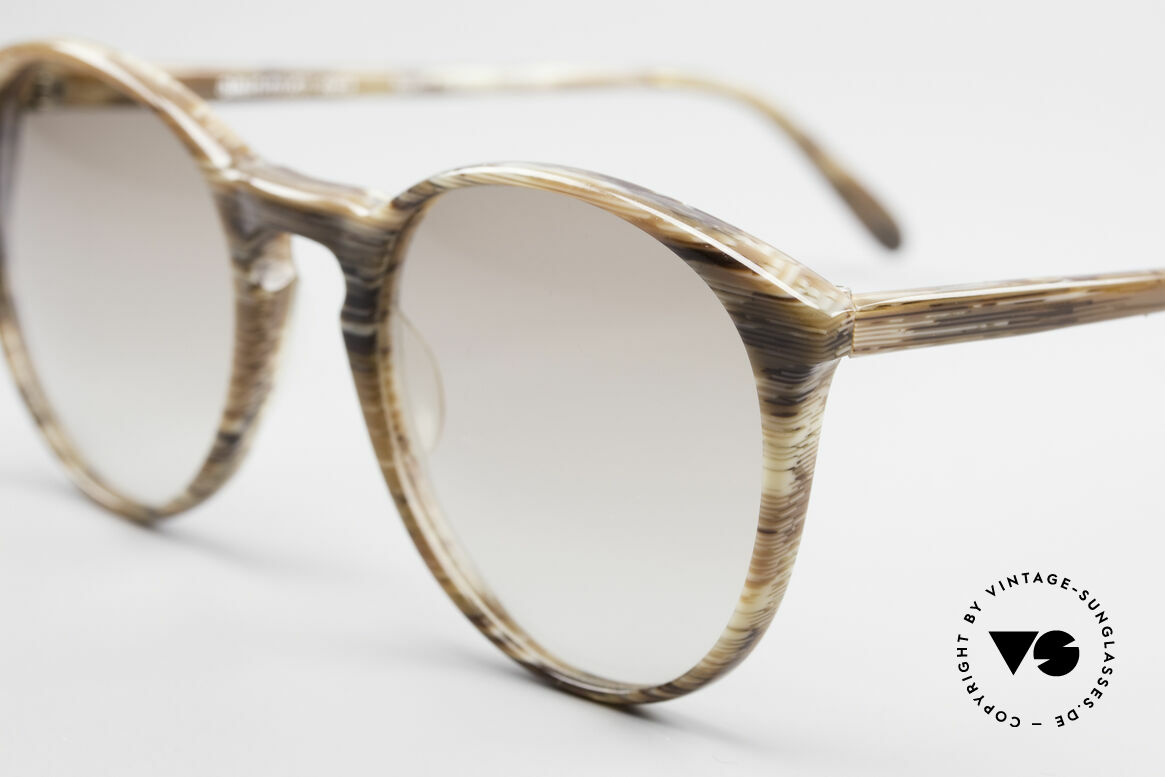 Alain Mikli 901 / 153 Horn Optic Panto Sunglasses, handmade quality and 123mm width = SMALL size!, Made for Men and Women