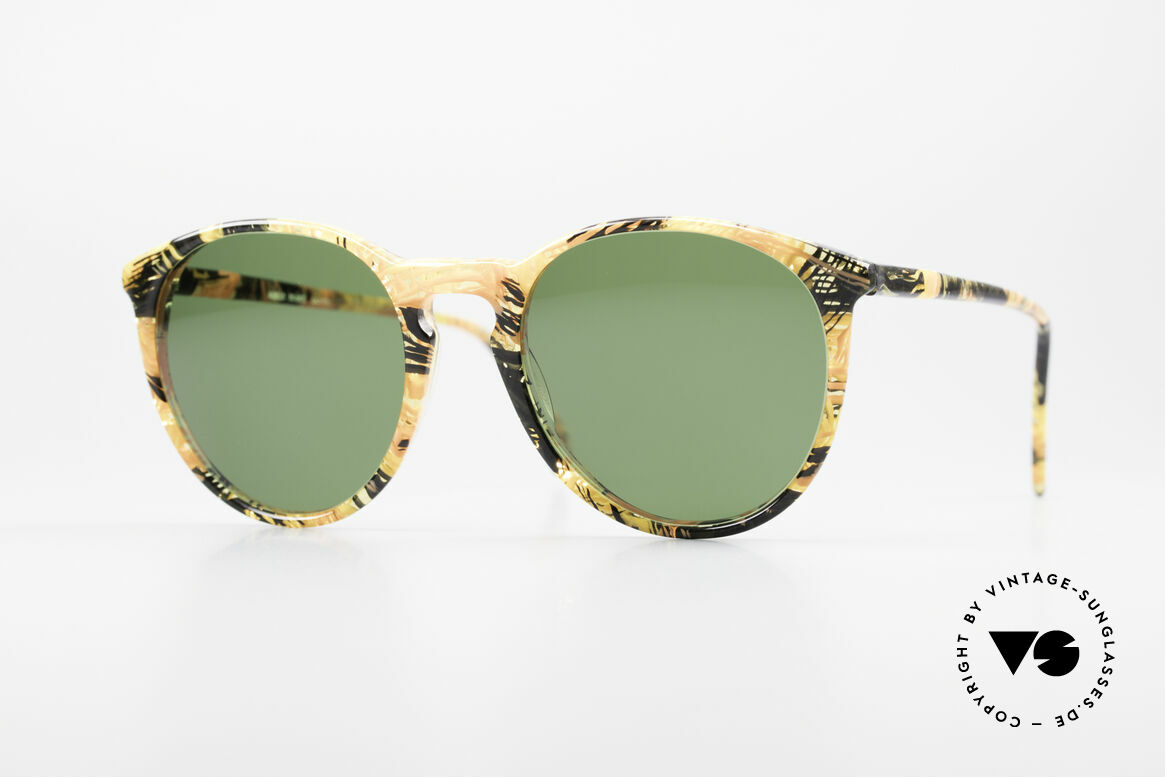 Alain Mikli 901 / 393 Amber Optic Panto Sunglasses, elegant VINTAGE Alain Mikli designer sunglasses, Made for Men and Women