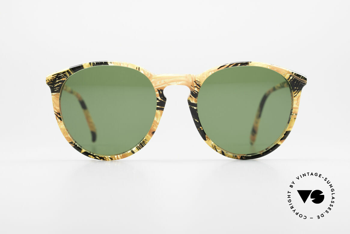 Alain Mikli 901 / 393 Amber Optic Panto Sunglasses, classic 'panto'-design with grass-green sun lenses, Made for Men and Women