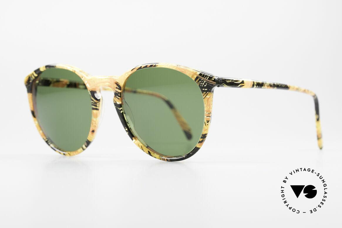 "Alain Mikli 901 / 393 Amber Optic Panto Sunglasses, terrific frame pattern (looks like a kind of ""amber""), Made for Men and Women"