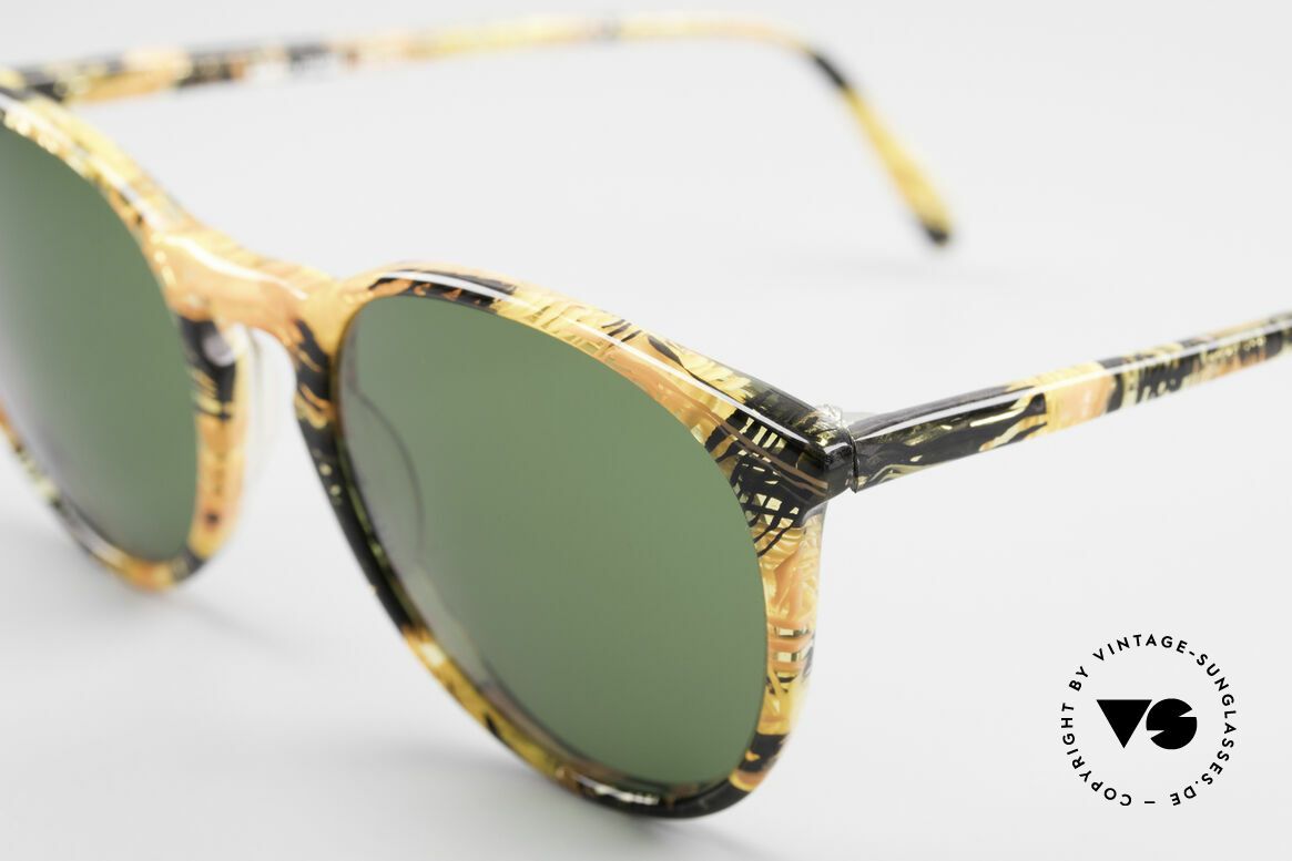 Alain Mikli 901 / 393 Amber Optic Panto Sunglasses, handmade quality and 123mm width = SMALL size!, Made for Men and Women
