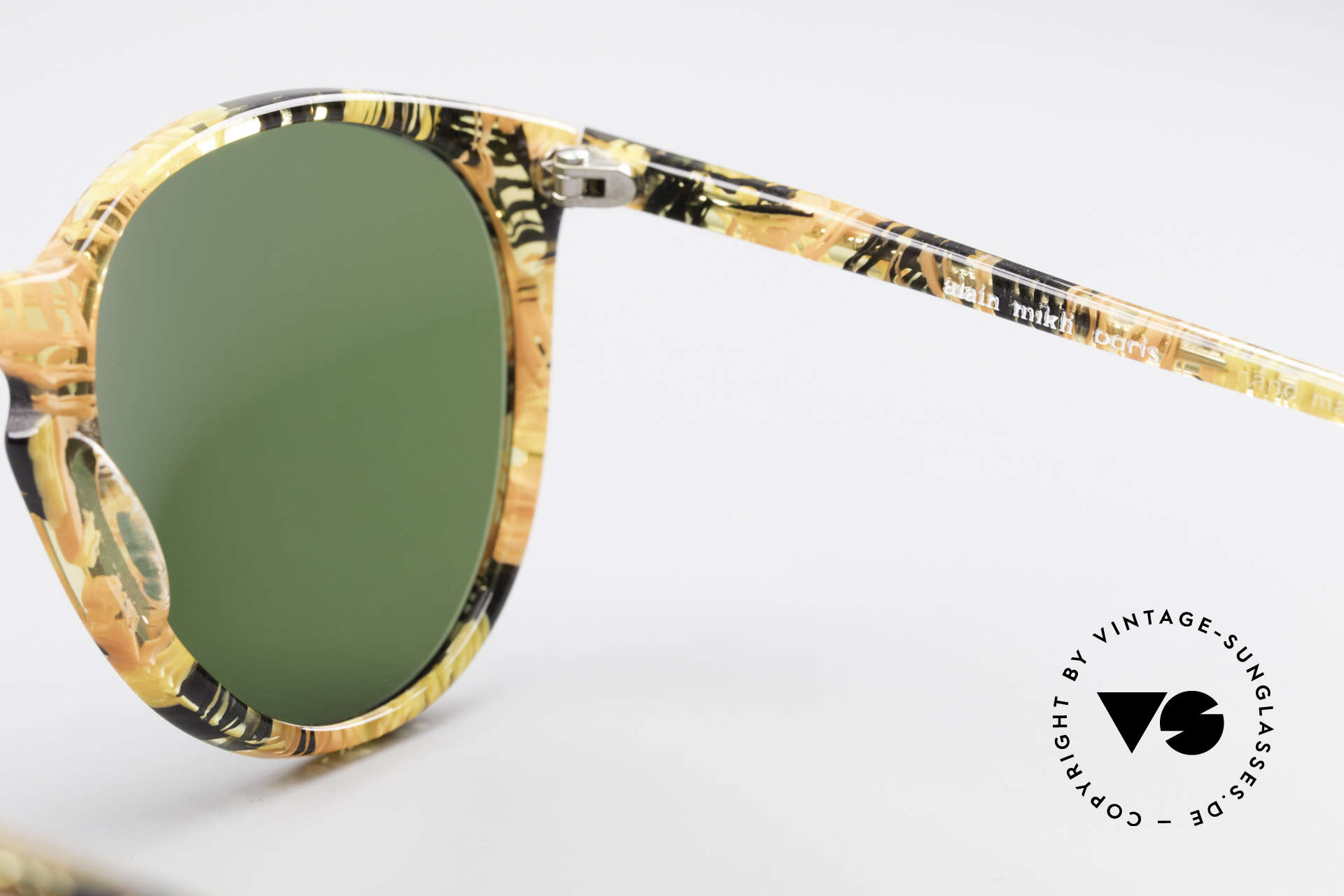 Alain Mikli 901 / 393 Amber Optic Panto Sunglasses, NO RETRO shades, but an old ORIGINAL from 1989, Made for Men and Women