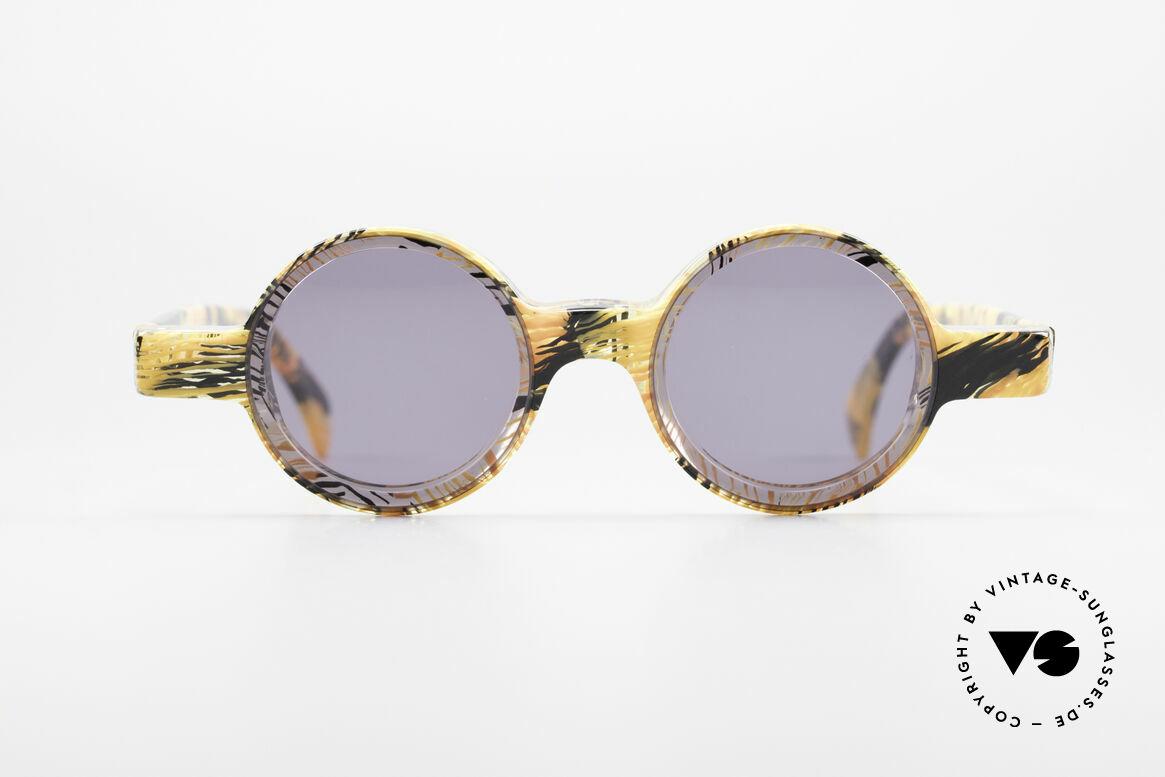 Alain Mikli 0150 / 393 Round Designer Sunglasses, small round vintage Alain MIKLI designer shades, Made for Men and Women