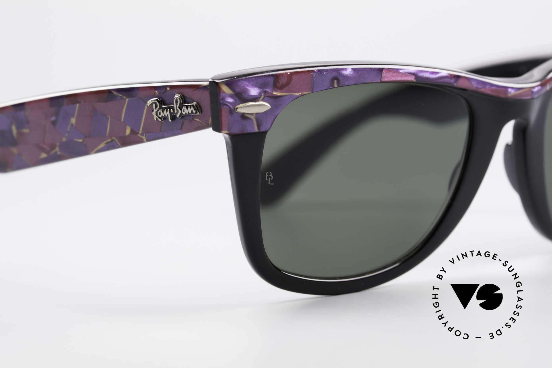 Ray Ban Wayfarer I Original Mosaic Wayfarer B&L, NO RETRO sunglasses, but an authentic old original, Made for Men and Women
