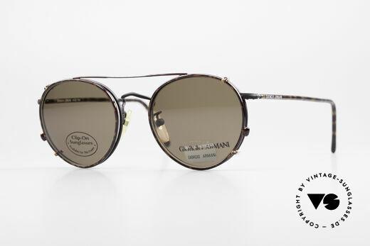 Giorgio Armani 138 Clip On Panto Vintage Frame Details