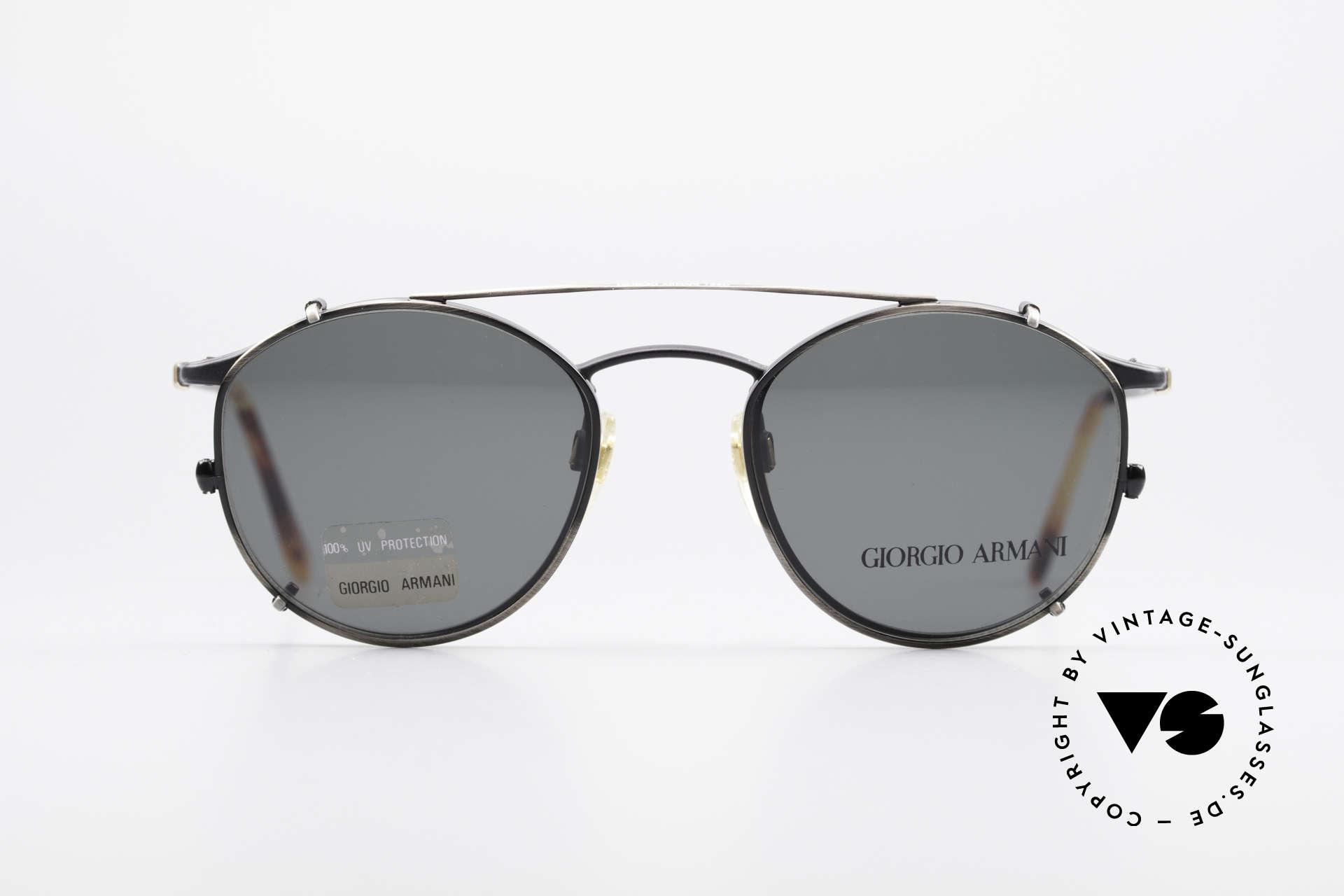 269798b0308c Sunglasses Giorgio Armani 132 Clip On Panto Eyeglasses