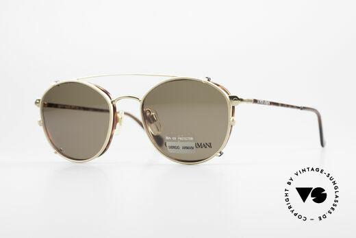 Giorgio Armani 168 Clip On Vintage Eyeglasses Details