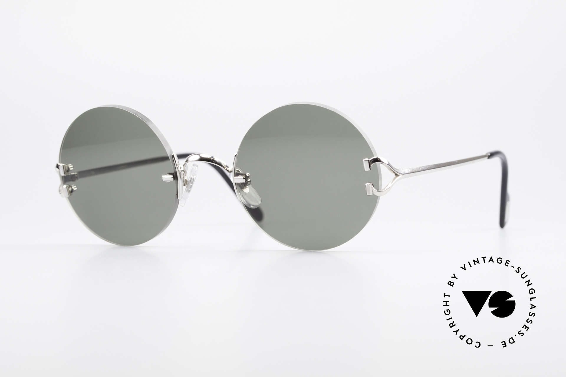 de007823695b Sunglasses Cartier Madison Round Platinum Sunglasses