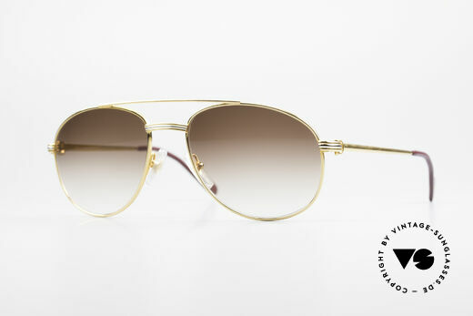 Cartier Driver 90's Luxury Aviator Shades Details