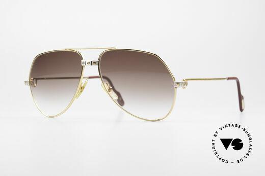 Cartier Vendome Santos - M Luxury 80's Aviator Shades Details