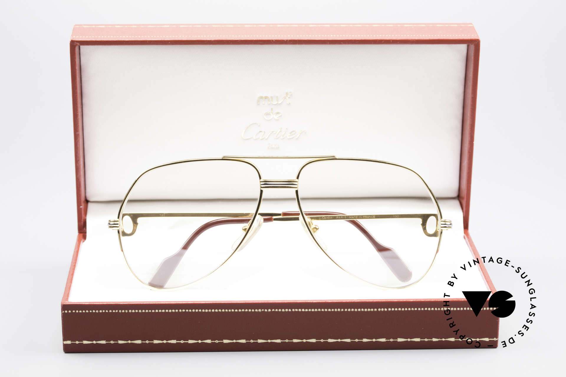 Cartier Vendome LC - M Changeable Cartier Lenses, breath on the lenses to make the CARTIER LOGO visible!, Made for Men and Women