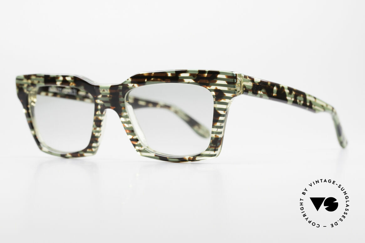 Alain Mikli 710 / 825 Extraordinary 80's Frame, with light green tinted sun lenses (wearable at night), Made for Men and Women