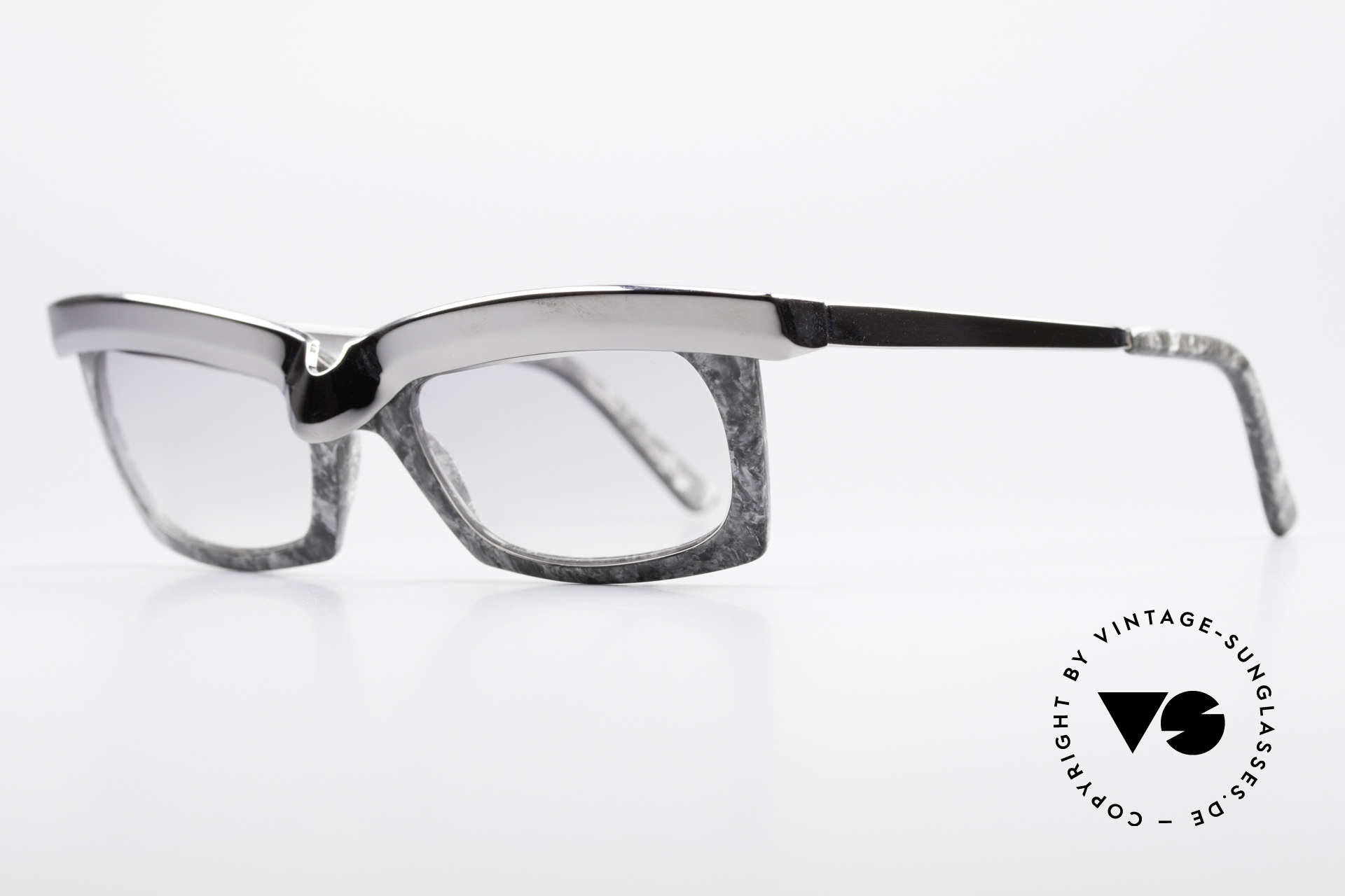 Alain Mikli 611 / 021 Spectacular 80's Sunglasses, with light gray tinted sun lenses (wearable at night), Made for Men and Women