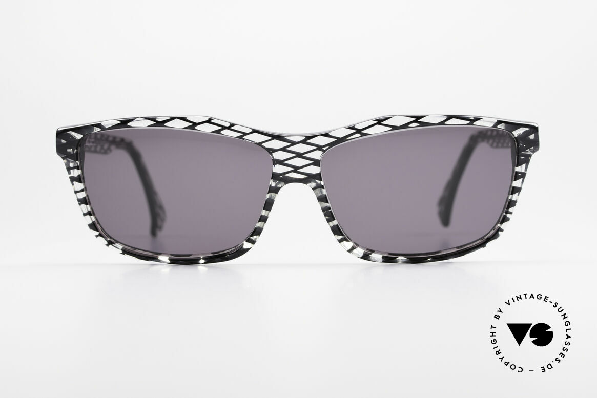 Alain Mikli 701 / 280 Designer Sunglasses Ladies, terrific frame pattern: crystal / black netted; unique!, Made for Women