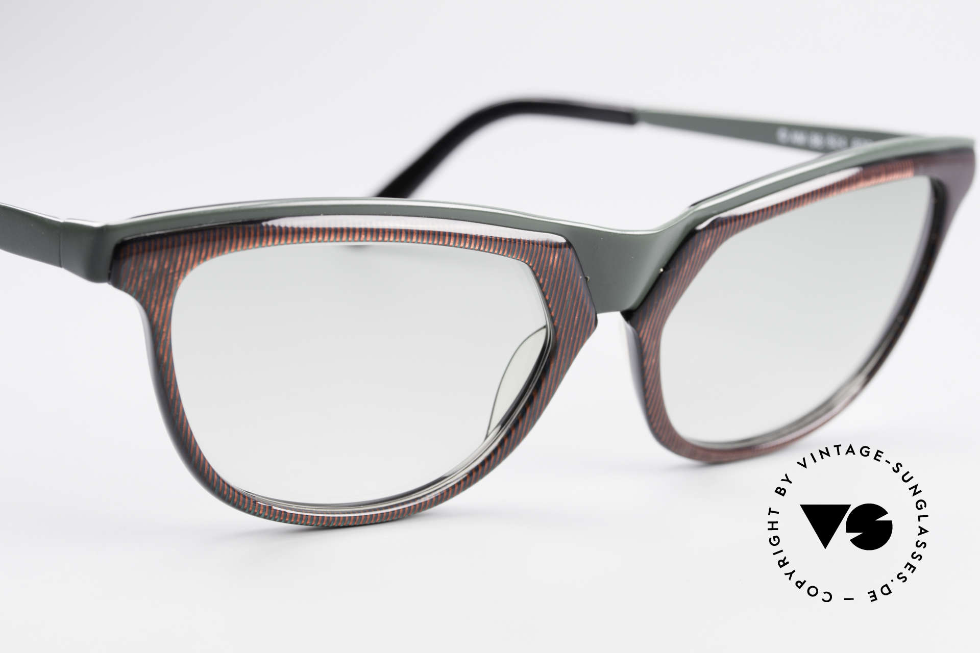Alain Mikli 624 / 836 Hologram Effect Sunglasses, with light tinted green-gradient lenses, simple unique, Made for Women