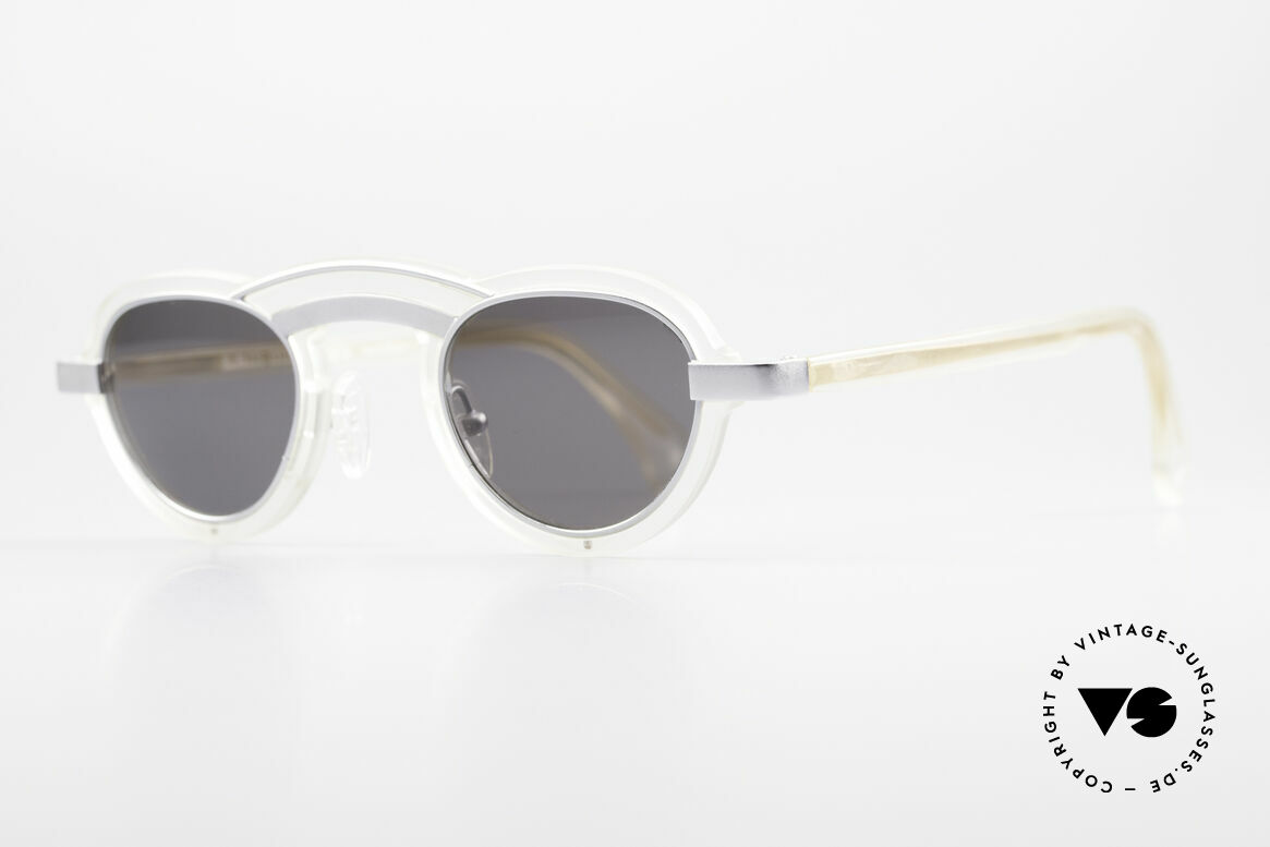 Alain Mikli 5107 / 0506 80's Designer Sunglasses, brilliant combination of forms, color and materials, Made for Men and Women