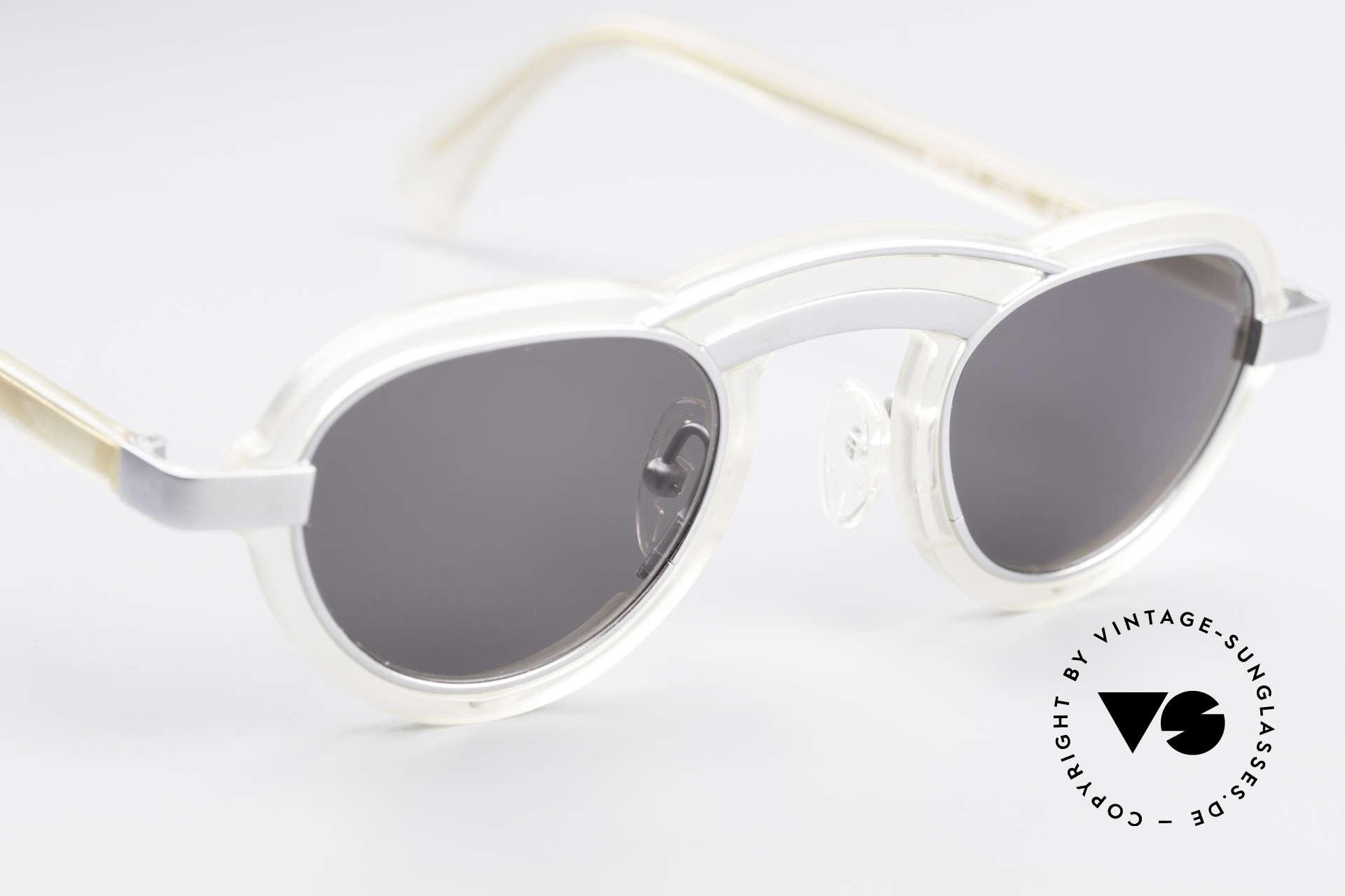 Alain Mikli 5107 / 0506 80's Designer Sunglasses, with dark gray sun lenses (for 100% UV protection), Made for Men and Women