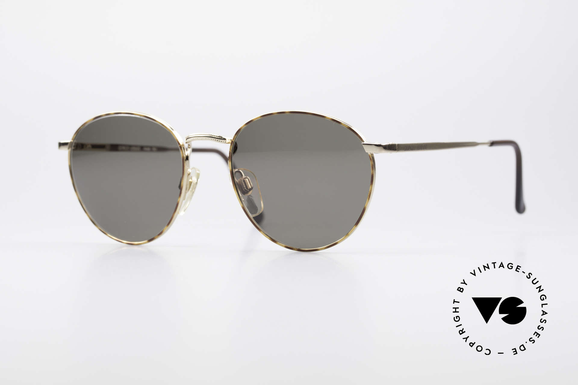 Giorgio Armani 166 Panto Sunglasses Gentlemen, timeless vintage GIORGIO Armani designer eyeglasses, Made for Men