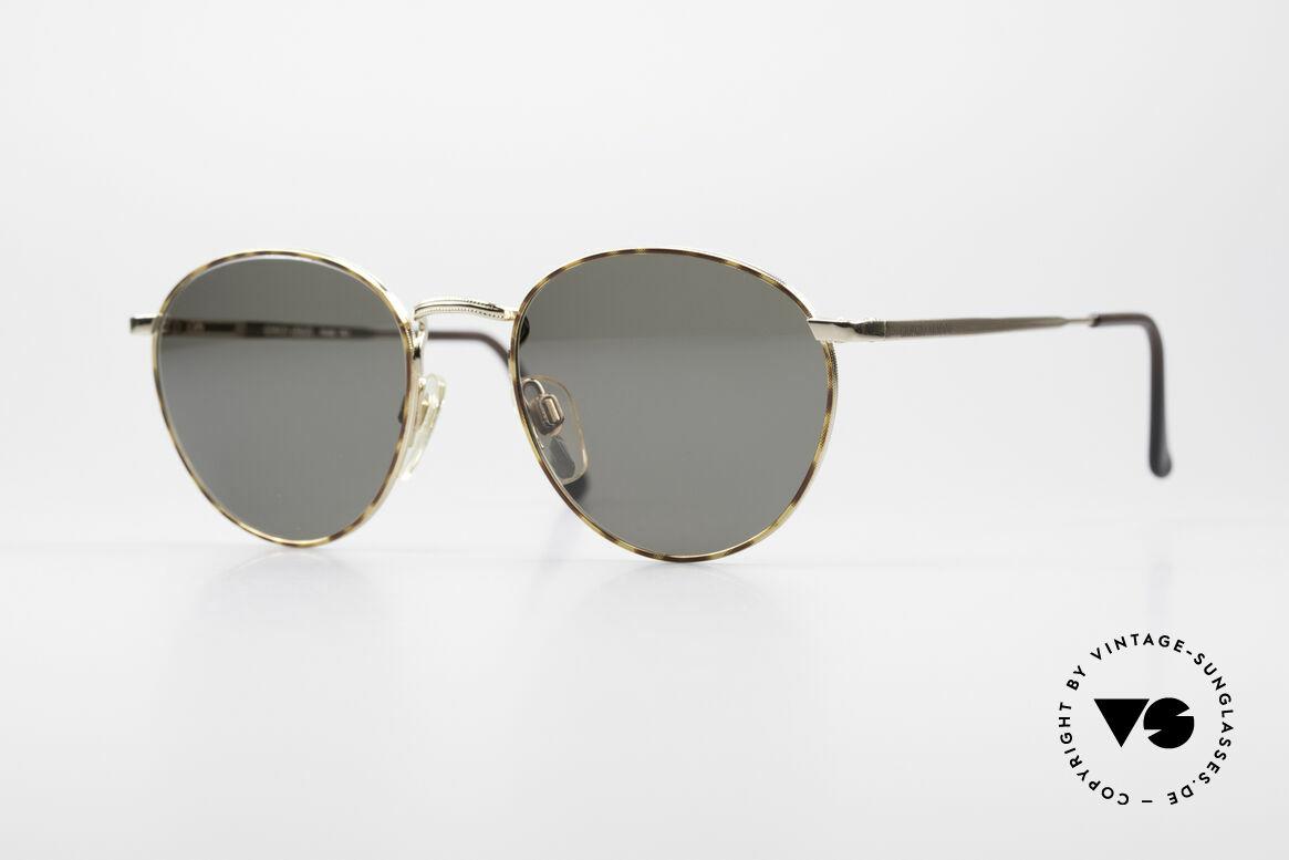 Giorgio Armani 166 Panto Sunglasses Gentlemen, timeless vintage GIORGIO Armani designer eyeglasses, Made for Men