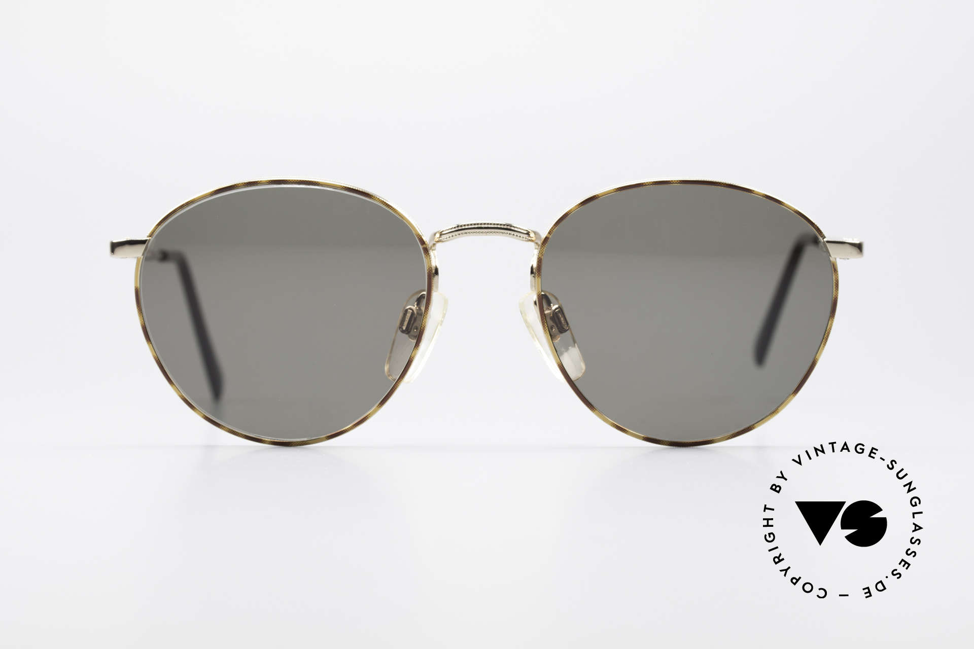 Giorgio Armani 166 Panto Sunglasses Gentlemen, classic 'panto' metal frame with flexible spring hinges, Made for Men