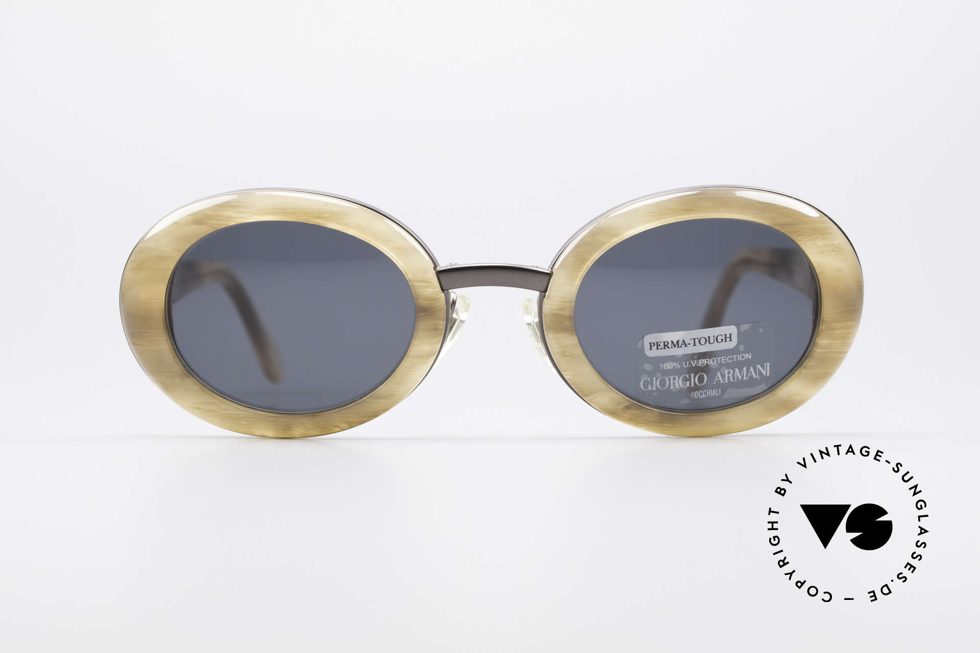 Giorgio Armani 945 90's Designer Shades Ladies, brilliant combination of colors, pattern and materials, Made for Women