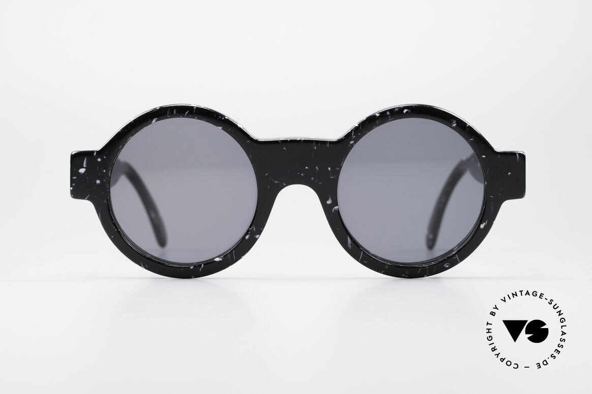 Giorgio Armani 903 Round Designer Sunglasses, terrific frame pattern (looks like black marble), Made for Men and Women
