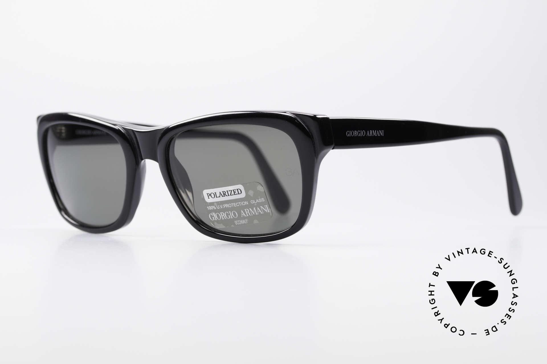 Giorgio Armani 846 90's Designer Shades Polarized, designer piece in TOP quality: mineral glass sun lenses, Made for Men and Women