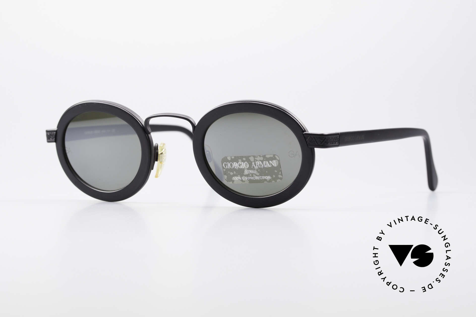 0caa0f77c19 Sunglasses Giorgio Armani 631 Oval 90s Sunglasses Mirrored