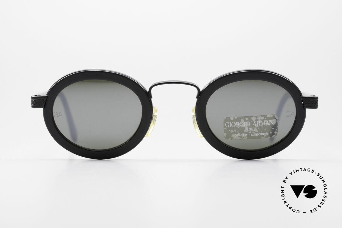 Giorgio Armani 631 Oval 90s Sunglasses Mirrored, silver-mirrored Giorgio Armani 90's designer sunglasses, Made for Men and Women