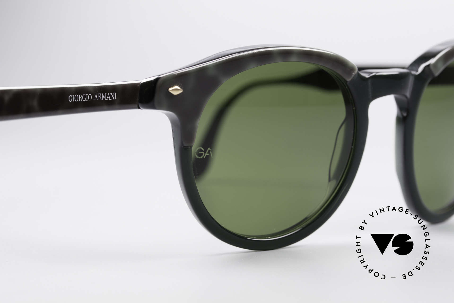 Giorgio Armani 901 Johnny Depp Sunglasses, mineral sun lenses and frame pattern in marbled-green, Made for Men